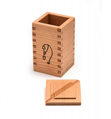 Akita Wooden Cedar Sake Tokkuri & Cups