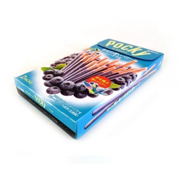 GLICO Blue Pocky Heartful Share Happiness and Blueberry