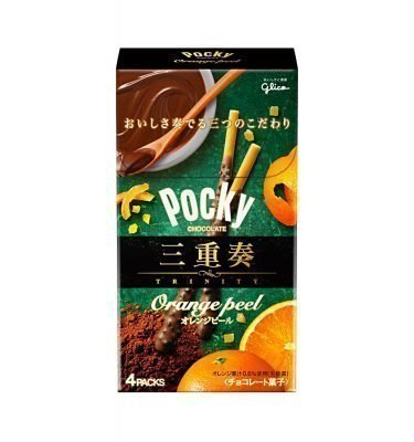 GLICO Pocky Trinity Orange Peel 4 Packs Made in Japan