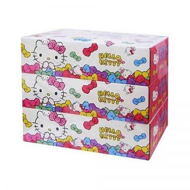 HELLO KITTY Box Tissue x 3 Boxes