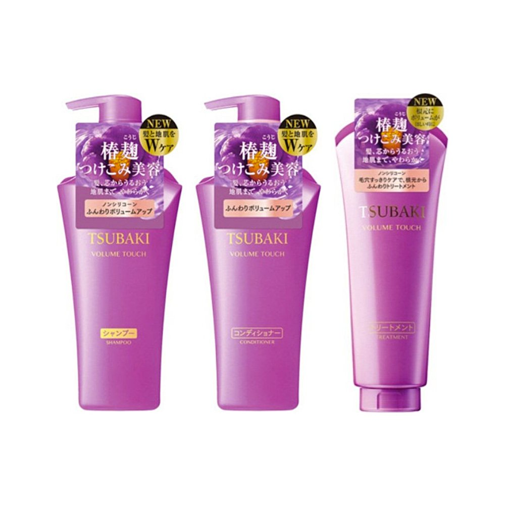 Japan Shiseido Tsubaki Volume Touch Shampoo Conditioner Treatment