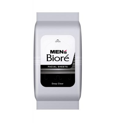 KAO Mens Biore Facial Wash Sheet Deep Clear 48 Sheets