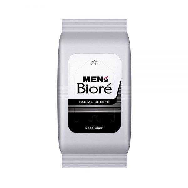 KAO Mens Biore Facial Wash Sheet Deep Clear 48 Sheets