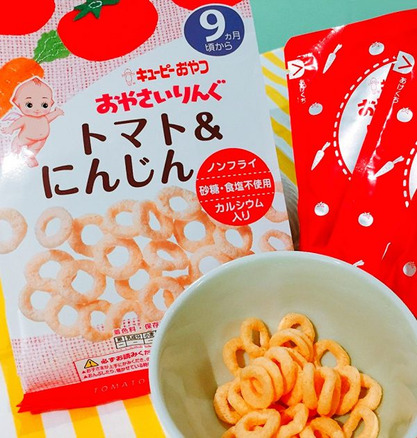 KEWPIE Vegetable Ring Snacks from 9 Months on - Tomato and Carrot