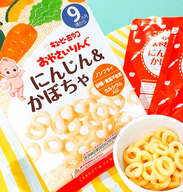 KEWPIE Vegetable Ring Snacks from 9 Months on – Carrot and Pumpkin