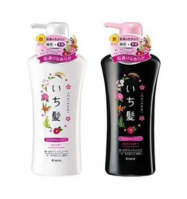 KRACIE Ichikami Herbal Smooth Care Shampoo Conditioner Set - Wild Sakura 530ml