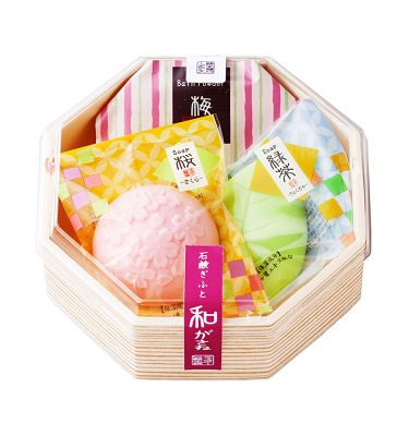 MASTER Flower Soap Bar Set Lemon and Green Tea Made in Japan