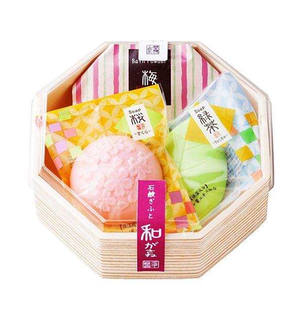 MASTER Flower Soap Bar Set Lemon and Green Tea Made in Japan