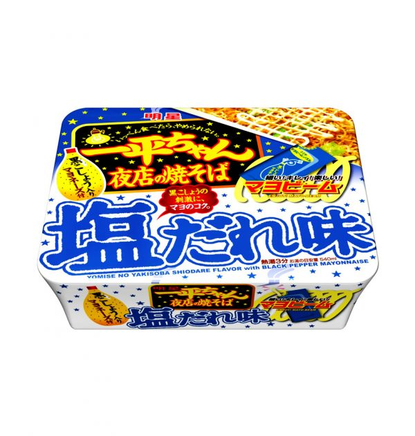 MYOJO Ippeichan Salt Yakisoba Japanese Style Instant Noodles with Pepper Garlic Mayonnaise x 12pcs