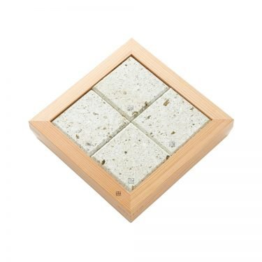 Nikko Cedar & Oya Stone Serving Plate 4 Stone – Handmade by Craftsman World Heritage Site