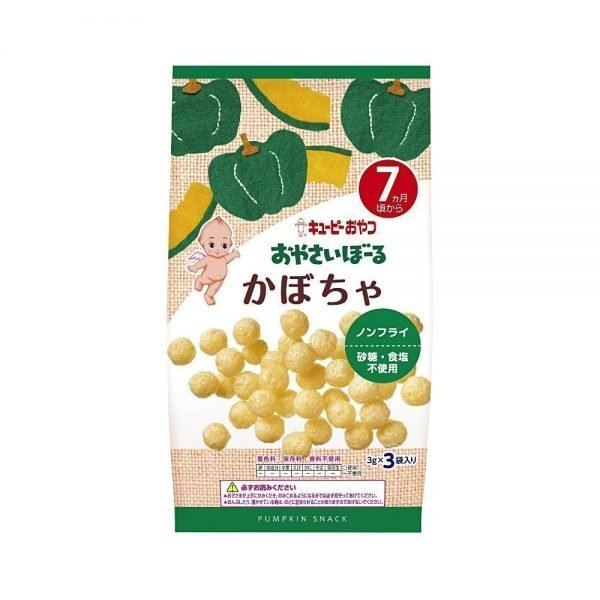 KEWPIE Vegetable Boro Biscuits - Pumpkin 3g x 3 Bags