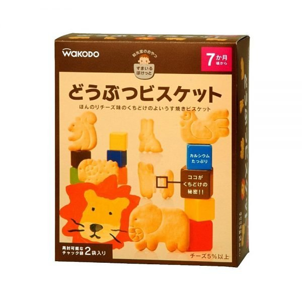 WAKODO Smile Pocket Animal Biscuits - from 7 Months