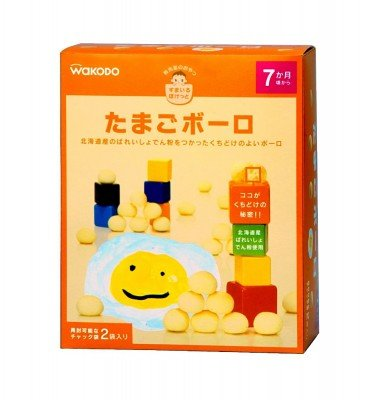 WAKODO Smile Pocket Tamago Egg Boro Biscuits - from 7 Months