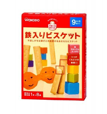 WAKODO Smile Pocket Iron-Fortified Biscuits - from 9 Months