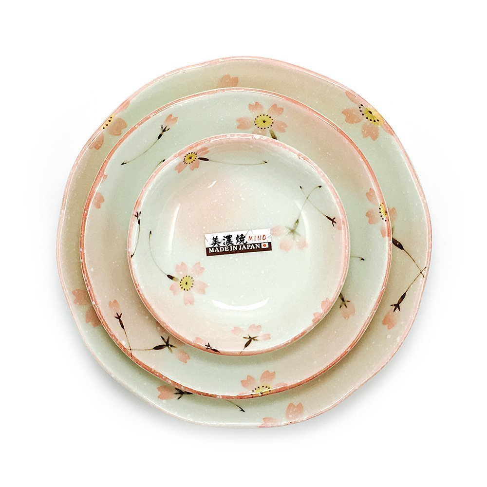 Mino Yaki Ware - Sakura Plate Triple Set  sc 1 st  TAKASKI.COM & Mino Yaki Ware - Sakura Plate Triple Set - TAKASKI.COM