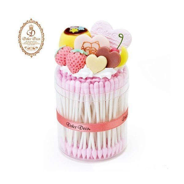 LITTLE TWIN STARS Dolce Deco Cotton Swab - Pudding Case