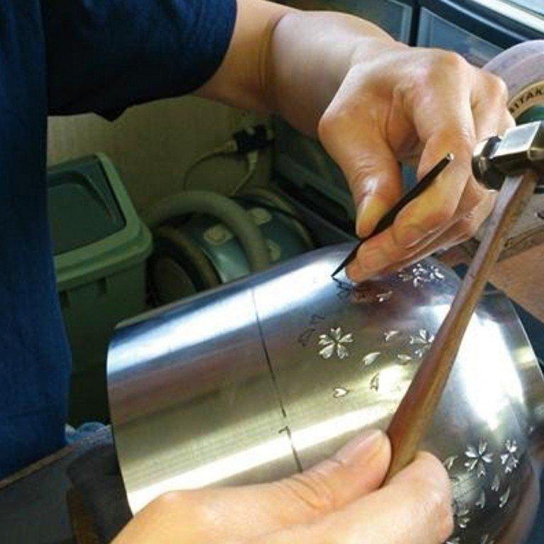 YOSHIKAWA Stainless Drip Pot - Sakura 1.1L