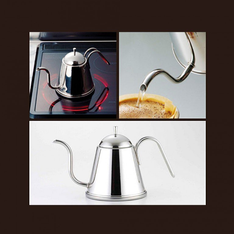 YOSHIKAWA Stainless Fons Drip Stove Kettle - IH-Enabled 1L