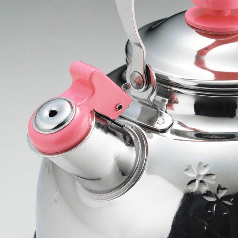 YOSHIKAWA Stainless Whistle Kettle - Sakura 2.5L