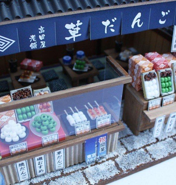 Japanese Dollhouse Kit - Dumpling Shop in Tokyo Downtown