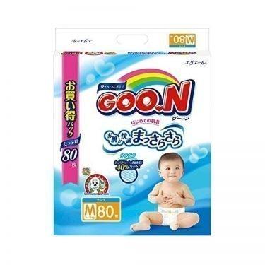 Elleair GOO.N Diapers Medium Size 6 - 11kg - 80 Sheets with Tape Straps