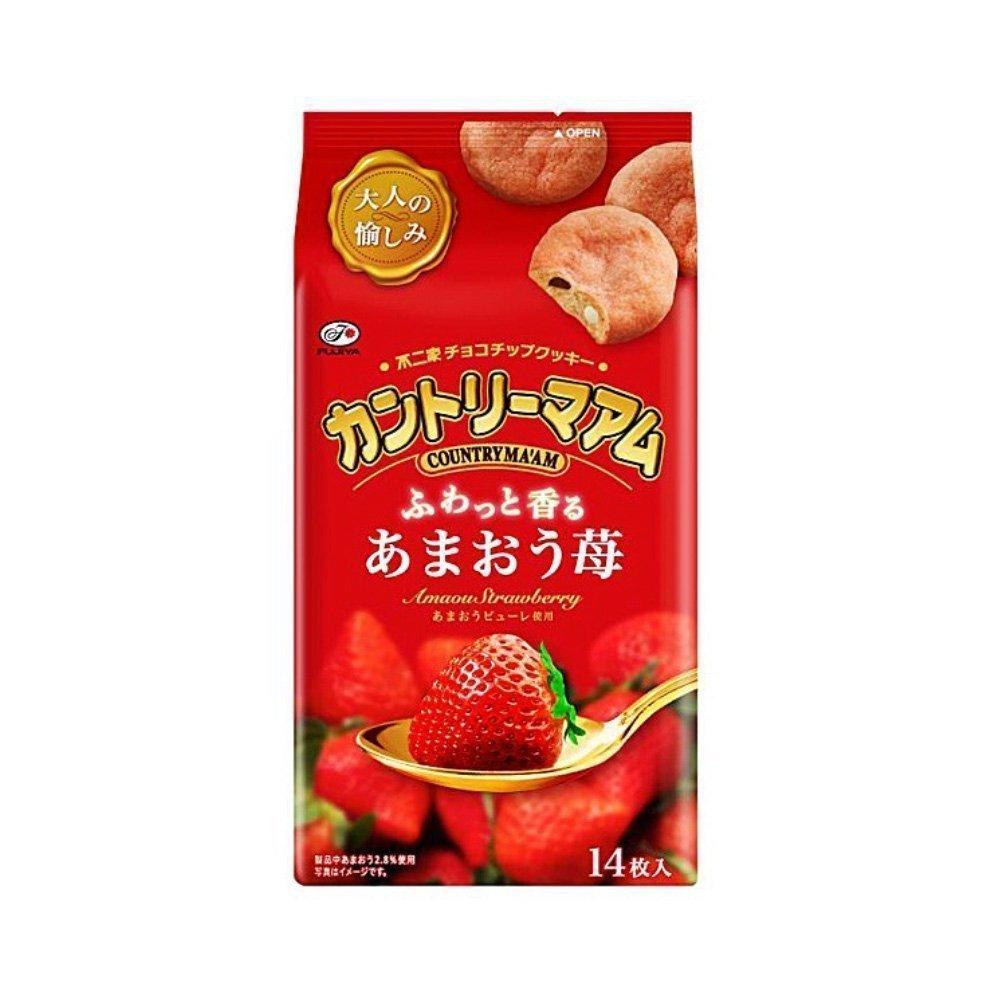 FUJIYA Country Ma'am Cookies Strawberry Sweet King - Amaou