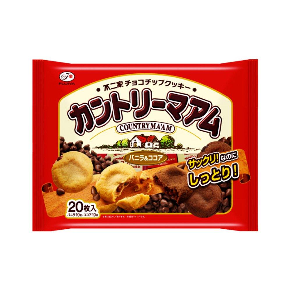 FUJIYA Country Ma'am Cookies Vanilla & Chocolate ...