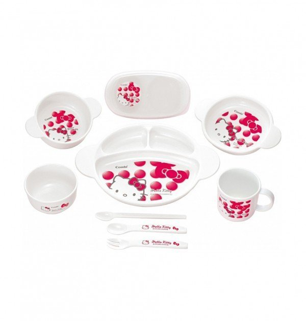 HELLO KITTY Combi Baby Tableware & Cutlery Set Box