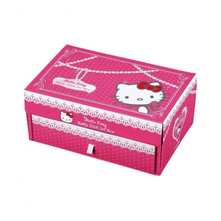 HELLO KITTY Combi Baby Tableware & Cutlery Set Box