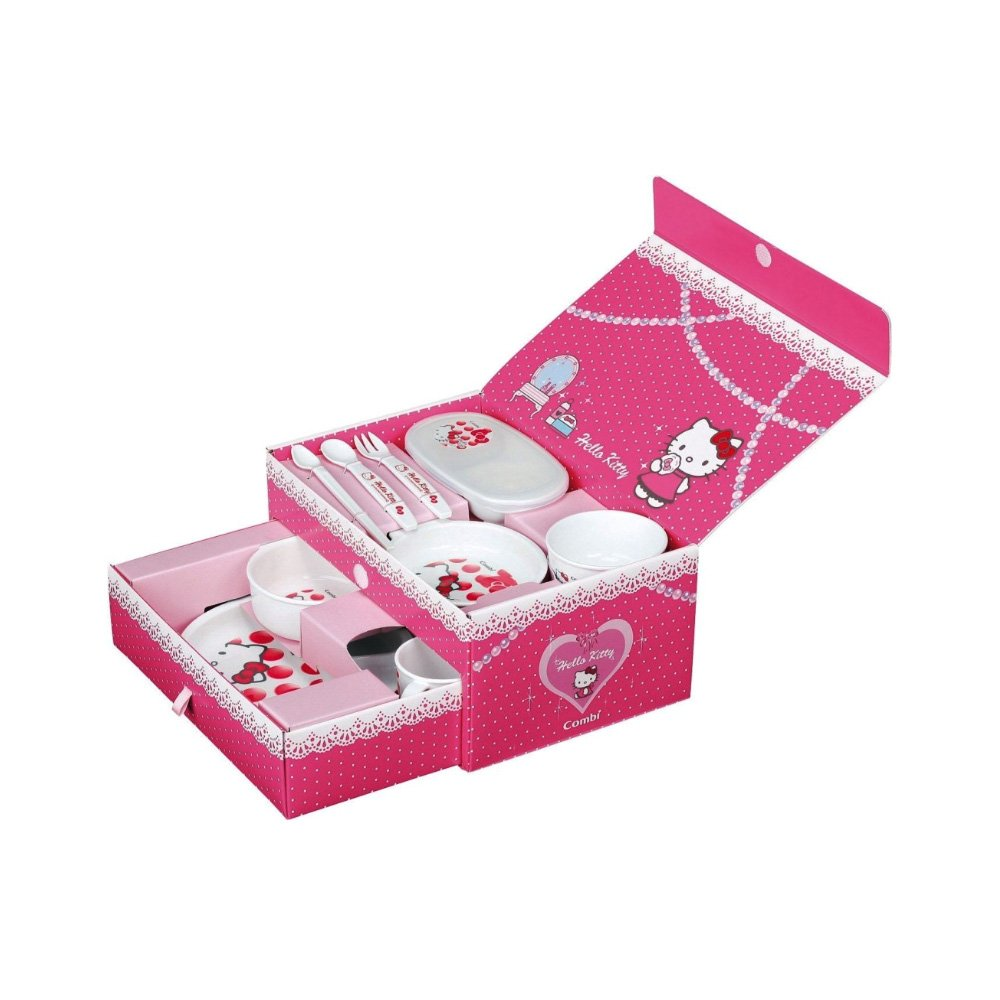 Hello Kitty Baby Gift Sets : Hello kitty combi baby tableware cutlery set box