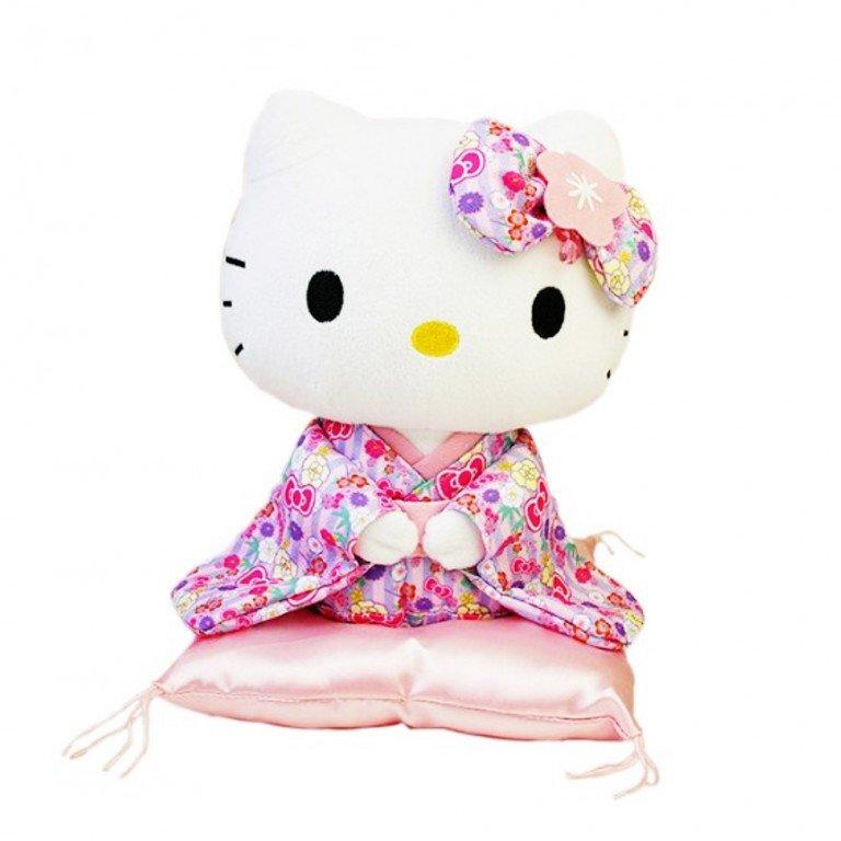 HELLO KITTY Kimono Sitting Doll - Pink Lavender