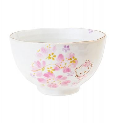 HELLO KITTY Sakura Kimono Rice Bowl Chawan - Hana Festival