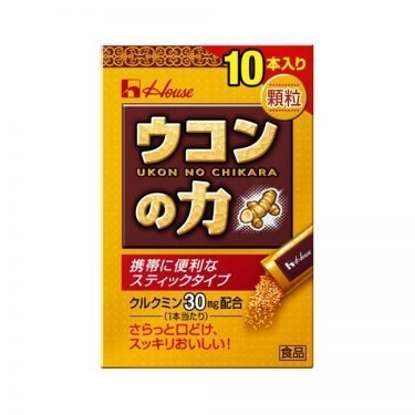 HOUSE Ukon No Chikara Turmeric Granules - Hangover Cure 10 Sticks