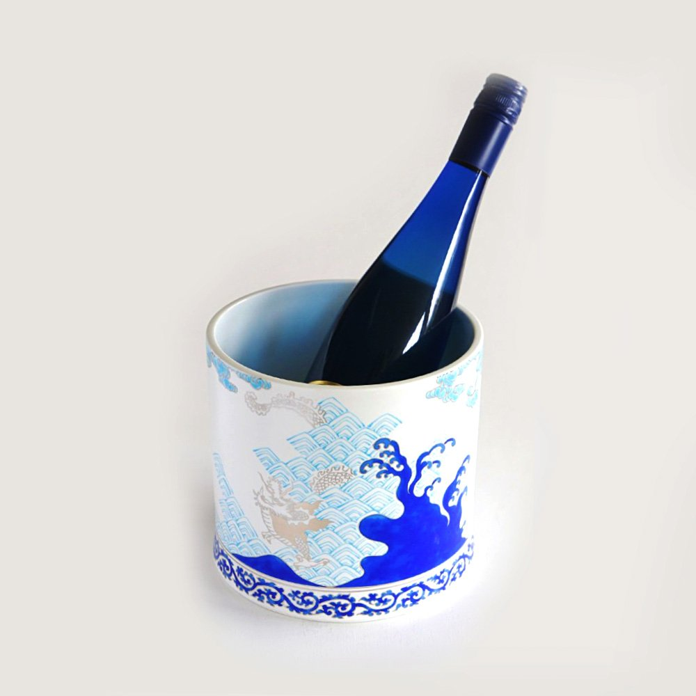 JAPAN BLUE Arita Platinum Porcelain - Sake & Wine Bucket