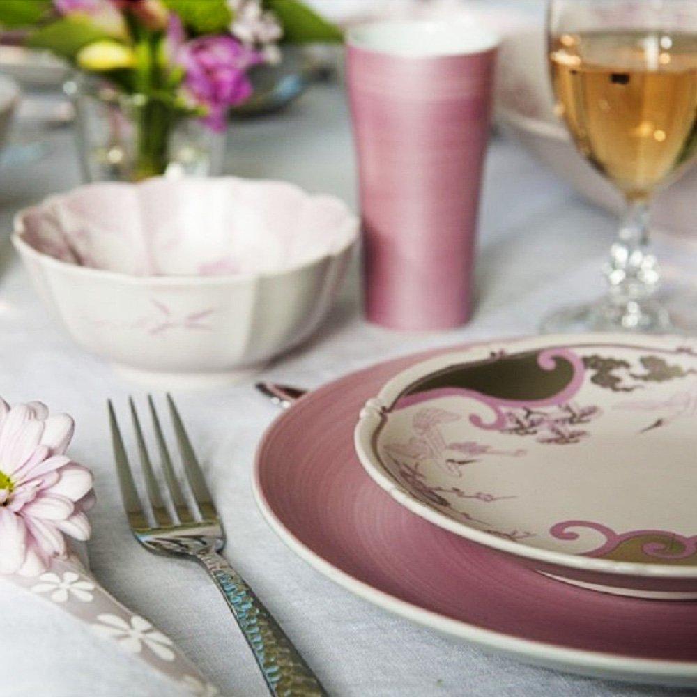 JAPAN CHERRY Arita Platinum Porcelain Tumbler Cup x 2 - Double-Flowered Sakura Cherry