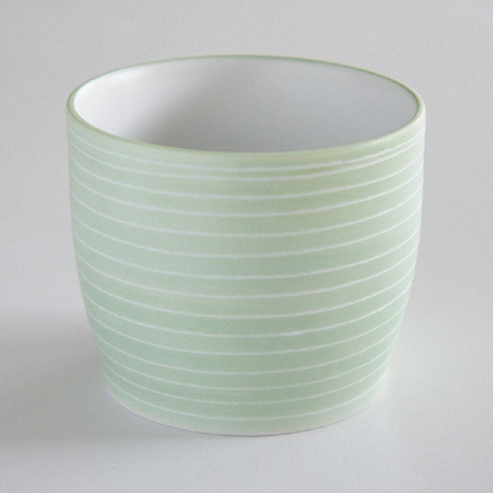 JAPAN GREEN TEA Arita Porcelain Cup - Pearl Green