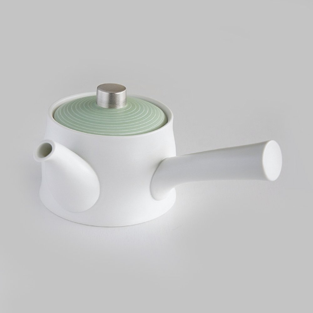 JAPAN GREEN TEA Arita Porcelain Tea Pot - Pearl Green