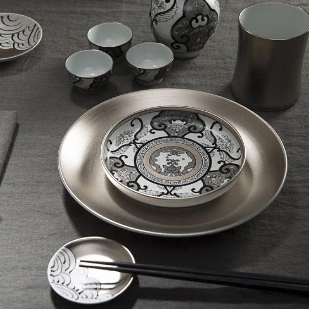 JAPAN SNOW Arita Platinum Porcelain - Meimei Plate