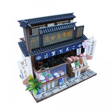 Japanese Dollhouse Kit - Dumpling Shop in Tokyo Downtown