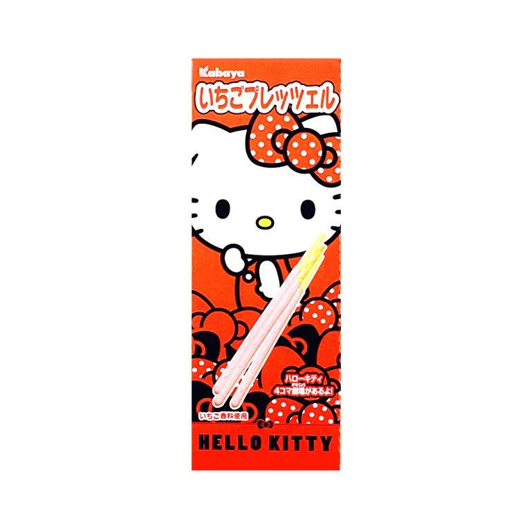 KABAYA Hello Kitty Strawberry Pretzel - 25g × 10 Pcs