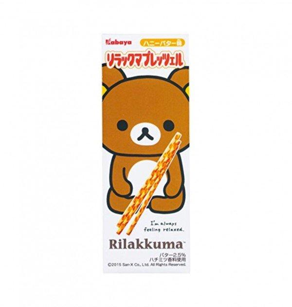 KABAYA Rilakkuma Pretzel Sticks - 32g × 10 Pcs