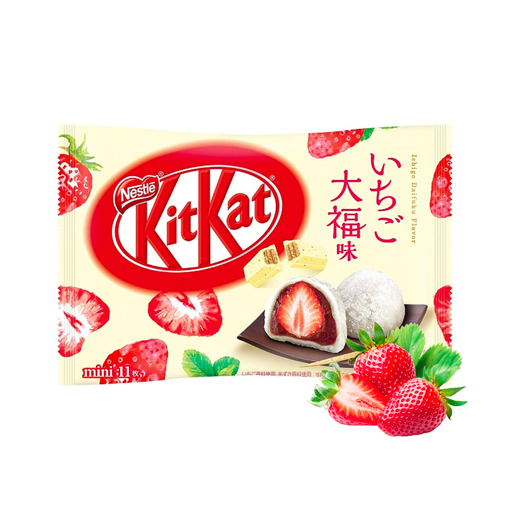 KIT KAT Japanese Mochi Strawberry in White Chocolate Made in Japan