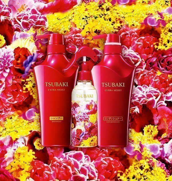 SHISEIDO Tsubaki Extra Moist Set - Shampoo Conditioner and Mini Treatment Mae in Japan