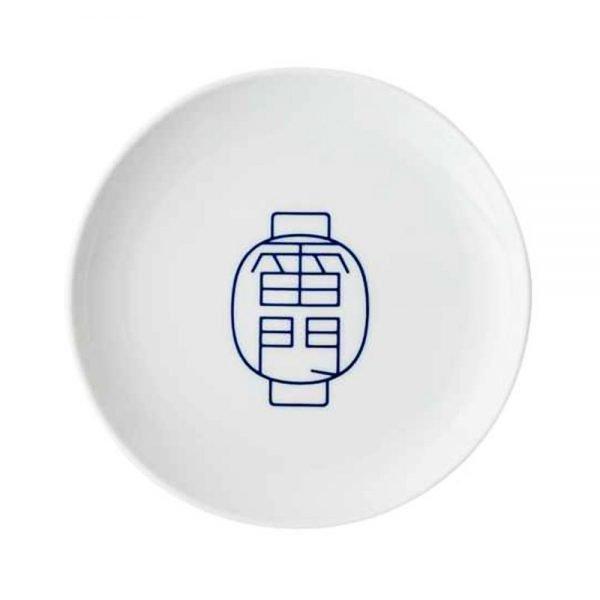 TOKYO ICON Arita Porcelain Small Plate - Asakusa Kaminari Mon Gate