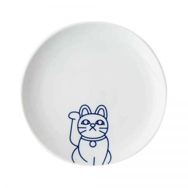 TOKYO ICON Arita Porcelain Small Plate - Lucky Cat Maneki Neko