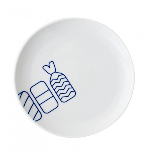 TOKYO ICON Arita Porcelain Small Plate - Sushi