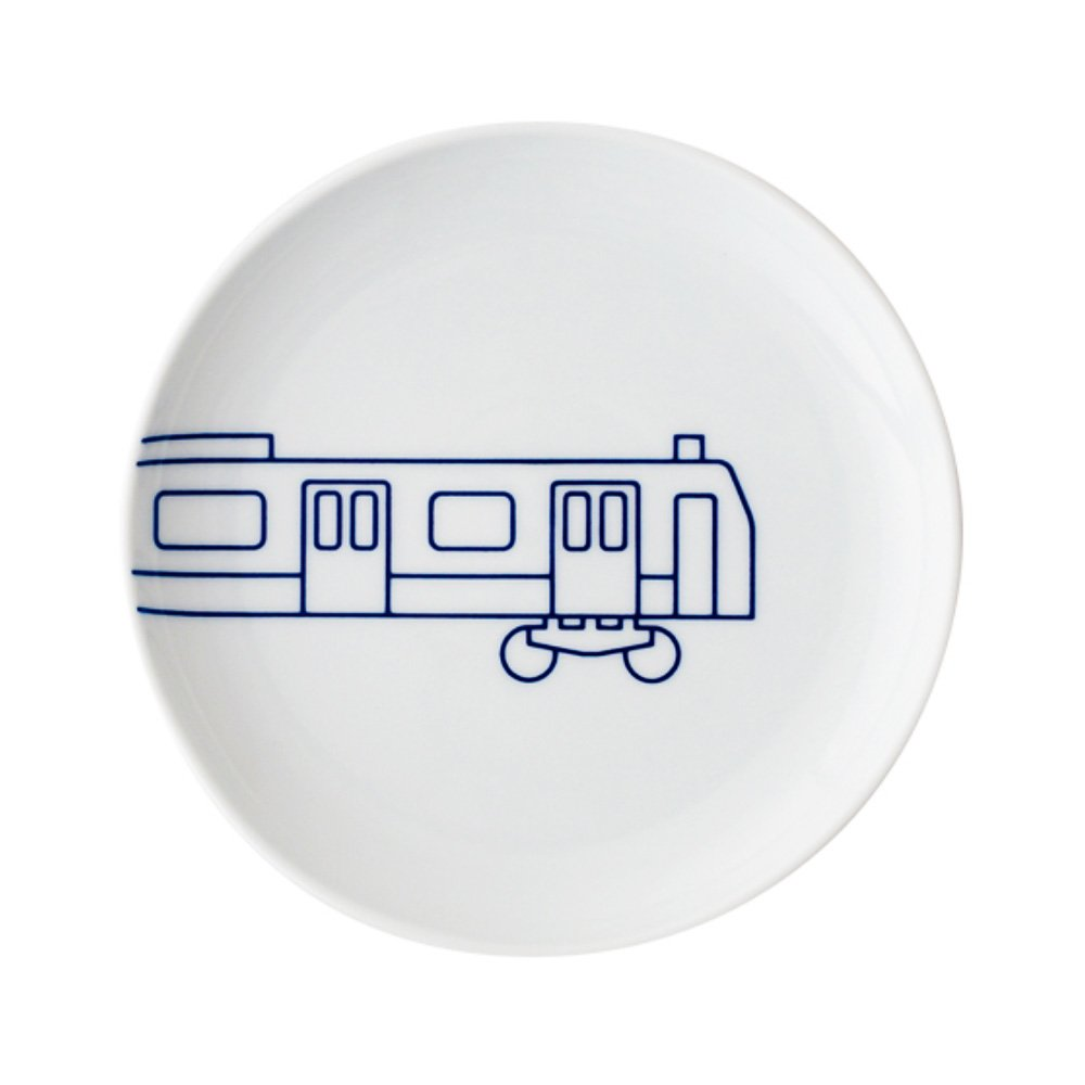 TOKYO ICON Arita Porcelain Small Plate - Yamanote Line Train