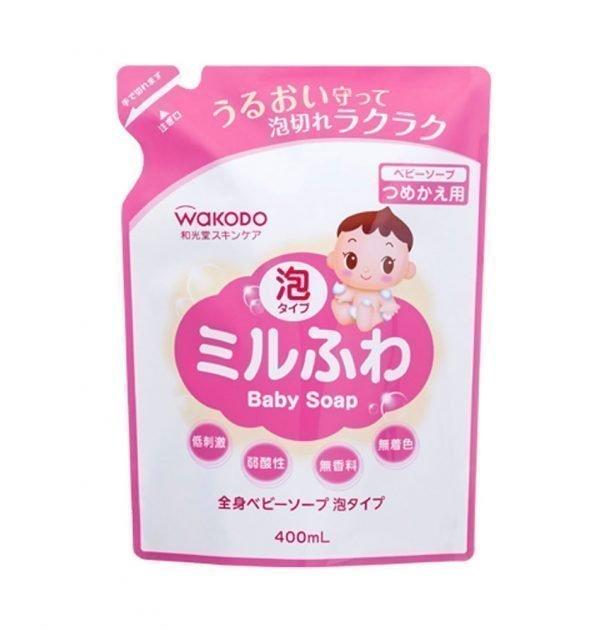 WAKODO Mirufuwa Baby Foam Soap REFILL 400ml Made in Japan