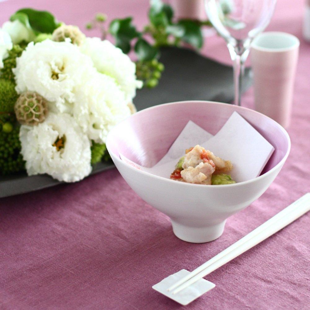JAPAN CHERRY Arita Porcelain Wavy Bowl - Double-Flowered Sakura Cherry
