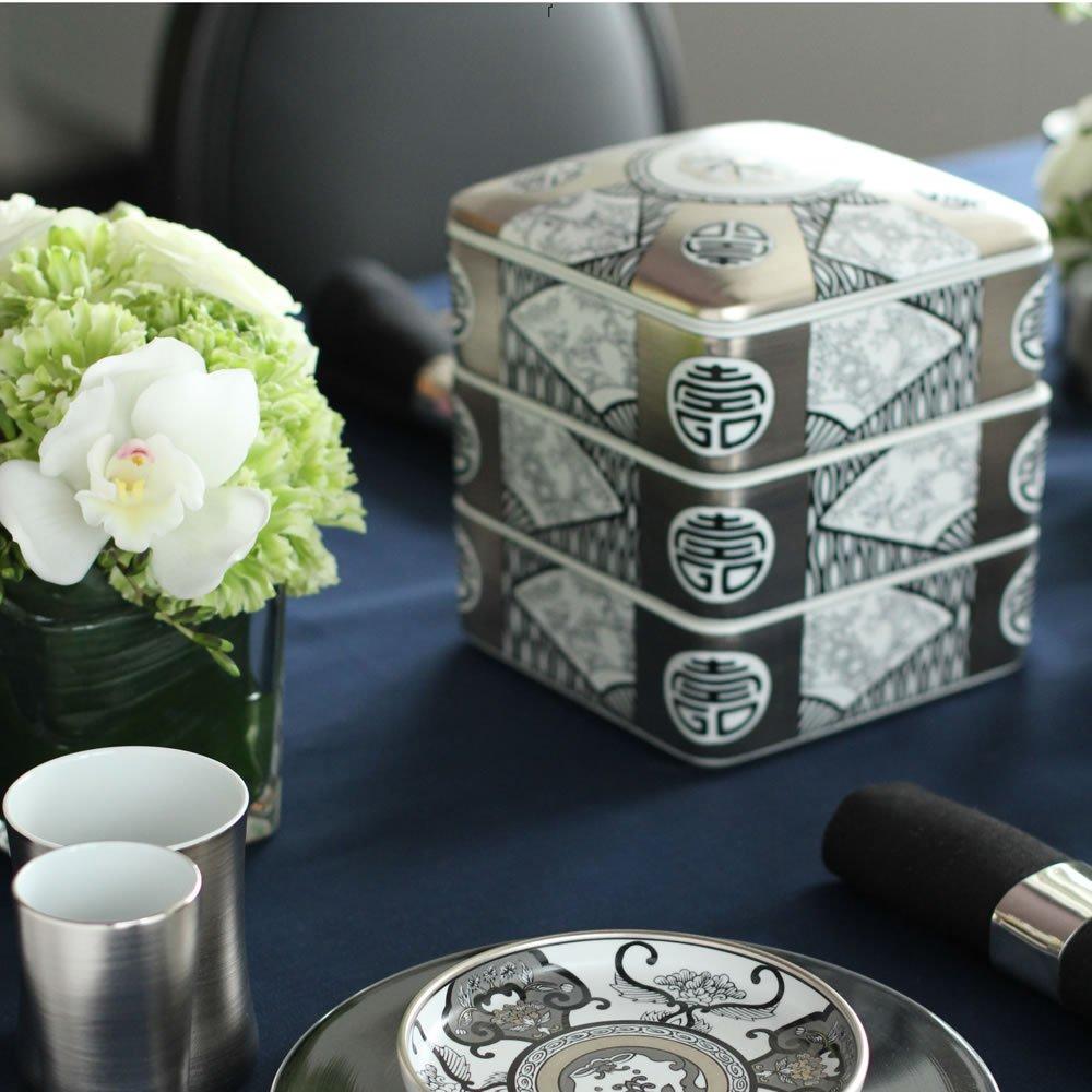 JAPAN SNOW Arita Platinum Porcelain - Imari Cuisine Box